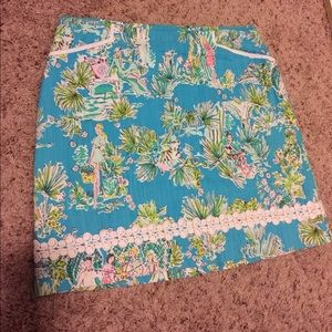 Lilly Pulitzer Jungle Glam Toile Skirt Size 10